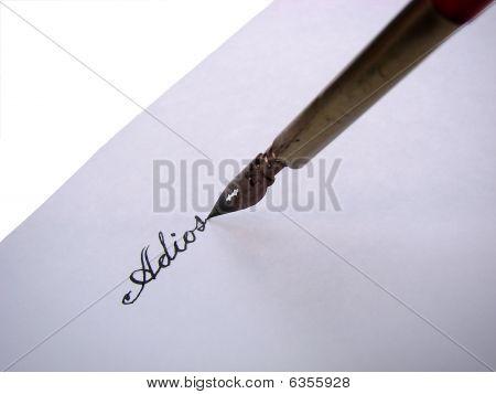 Pen Writing Adios