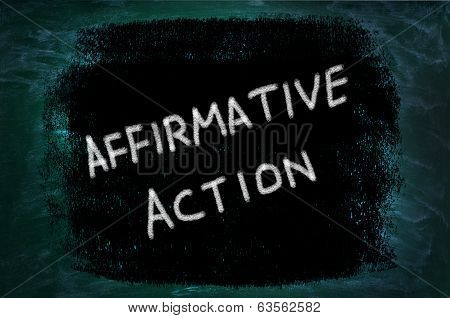 Affirmative Action Words Written On Grunge Background