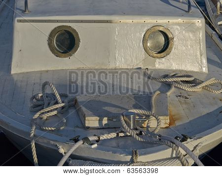 Bow Of An Old Fishing Boat