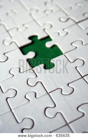 Green jigsaw piece