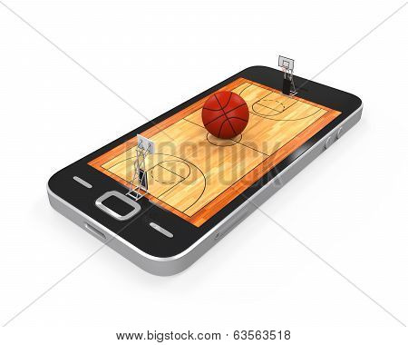 Basketball Court in Mobile Phone