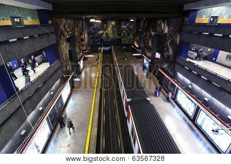 Subway station in Santiago De Chile
