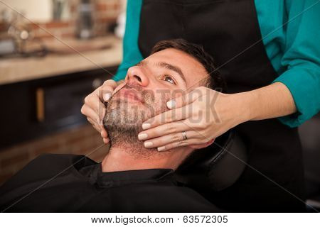 Face Massage By A Woman