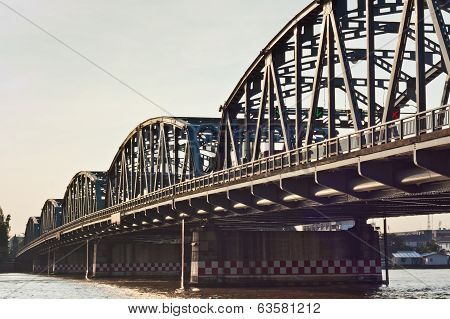 Steel Bridge Over The Chao Phraya River