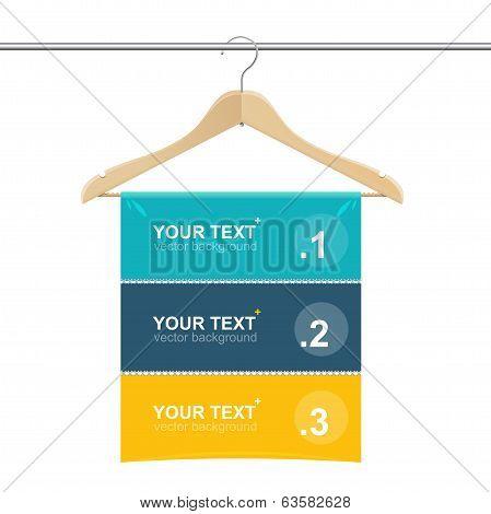 Coat hanger wood like text headers