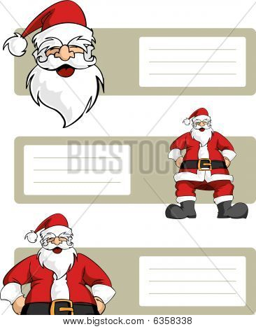 Christmas Series: Santa Claus Character With Blank Lables