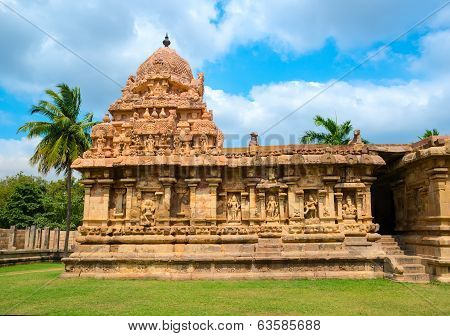 Great Architecture Of Hindu Temple Dedicated To Shiva, Ancient Gangaikonda Cholapuram Temple,  India