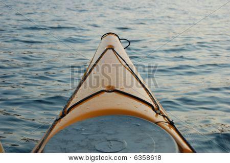 Orange Kayak at sunset
