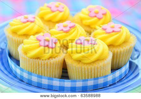 Iced lemon cupcakes