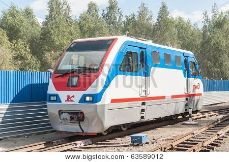 TU10-011 locomotive on Children's railroad. Russia