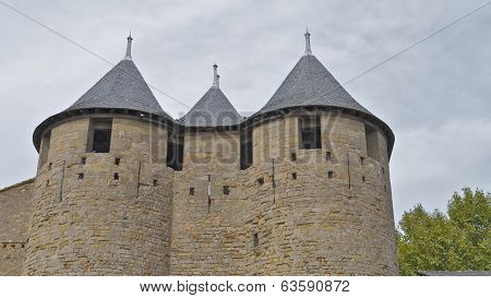 The Castle towers , Carcassonne, France.