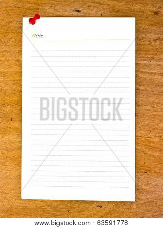 Blank Paper On Wooden Bords