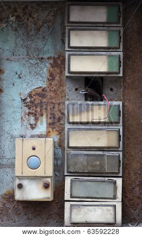 Old And Damaged Doorbells - Buttom