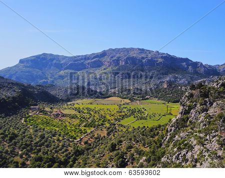 Tramuntana Mountains Range On Majorca