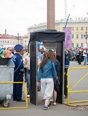 Metal Detectors At Palace Square, St. Petersburg