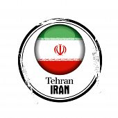 picture of tehran  - stamp Tehran - JPG