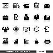 Постер, плакат: Business And Office Icons Set
