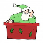 cartoon bored santa claus