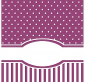 stock photo of girly  - Vector card or invitation with white polka dots - JPG
