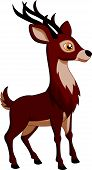 foto of deer head  - Vector illustration of Cute deer cartoon isolated on white background - JPG
