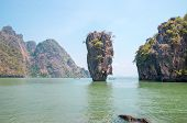 stock photo of james bond island  - Ko Tapu rock on James Bond Island Phang Nga Bay Thailand - JPG