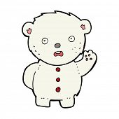 cartoon unhappy polar teddy bear
