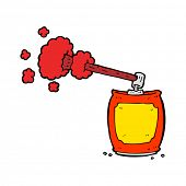 picture of spray can  - cartoon aerosol spray can - JPG