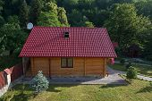 picture of guest-house  - Small wooden house in Carpathian mountains - JPG