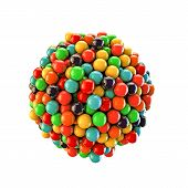 pic of gumballs  - illustration of gumballs isolated on white background - JPG