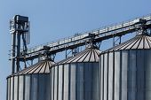 pic of silos  - silos for agricultural goods in a warehouse - JPG