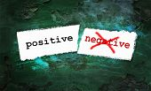 pic of positive negative  - Positive and negative written on piece of paper - JPG
