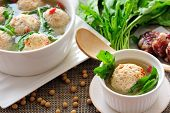 picture of ground-beef  - Tofu and ground beef balls stuffed with sausage and shepherd - JPG