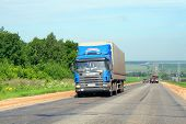 stock photo of semi trailer  - TATARSTAN RUSSIA  - JPG