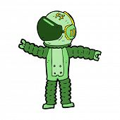 cartoon astronaut reaching