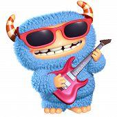 pic of bigfoot  - 3 d cartoon cute blue monster toy - JPG