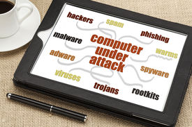 image of spyware  - computer network security concept  - JPG