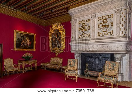 Inside Chamber In Chenonceau Chateau