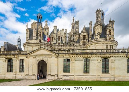 Entrance To The Chateau De Chambord