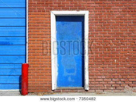 Urban Door on Bricks