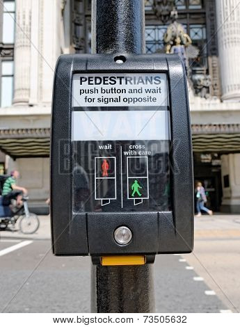 Push button for pedestrians