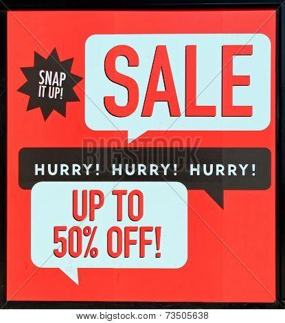 Half price seasonal sale