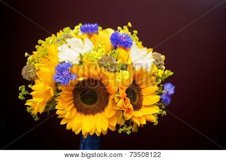 Bridal Sunflower Bouquet
