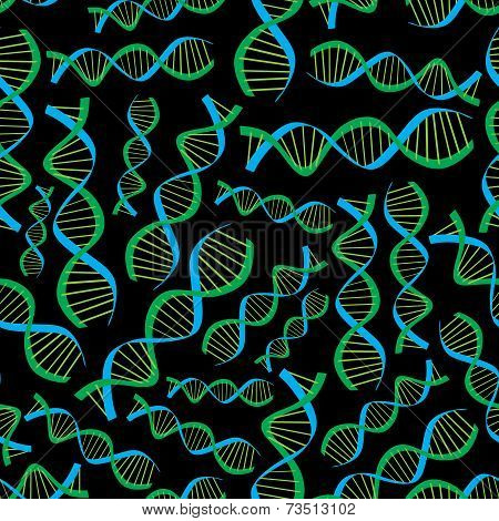 Dark Dna Seamless Pattern Eps10