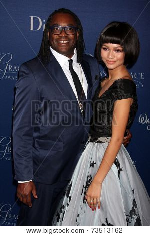 LOS ANGELES - OCT 8:  Kazembe Ajamu Coleman, Zendaya Coleman at the Princess Grace Foundation Gala 2014 at Beverly Wilshire Hotel on October 8, 2014 in Beverly Hills, CA