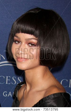LOS ANGELES - OCT 8:  Zendaya Coleman at the Pricess Grace Foundation Gala 2014 at Beverly Wilshire Hotel on October 8, 2014 in Beverly Hills, CA