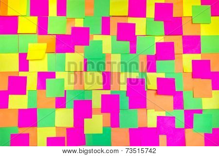 Colored Notes Background