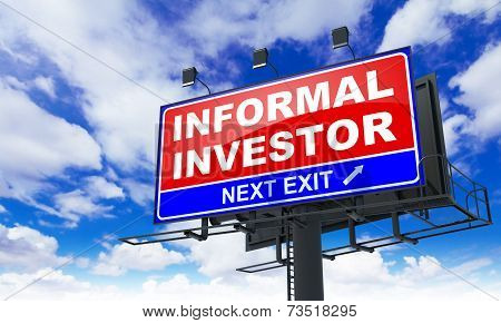 Informal Investor Inscription on Red Billboard.