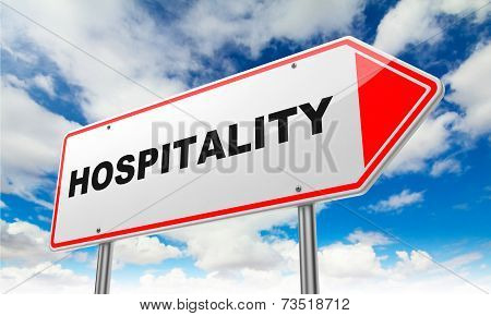 Hospitality on Red Road Sign.