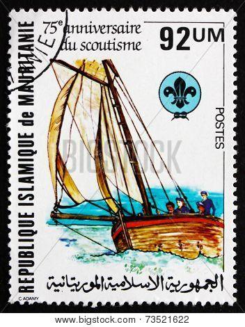 Postage Stamp Mauritania 1982 Boating Scene