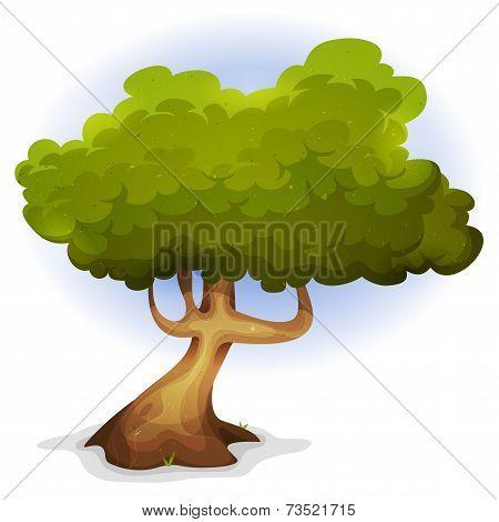 Cartoon Funny Spring Tree